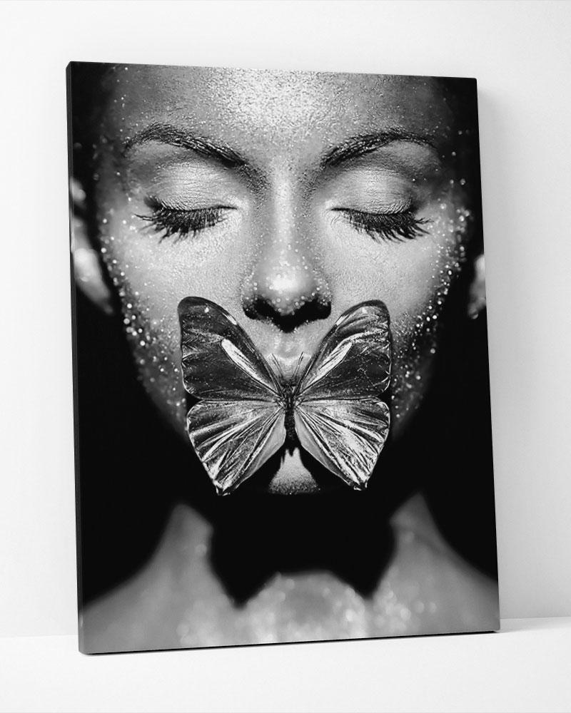 Placa Decorativa Butterfly Kiss