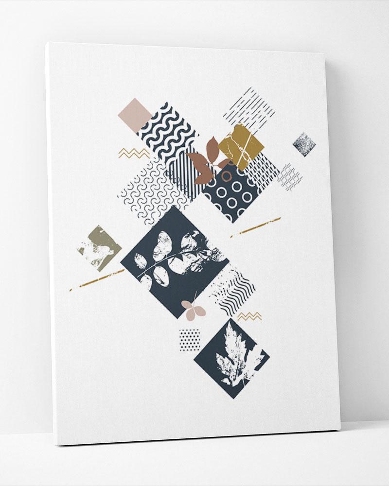 Placa Decorativa Caixa De Flores Geométrica
