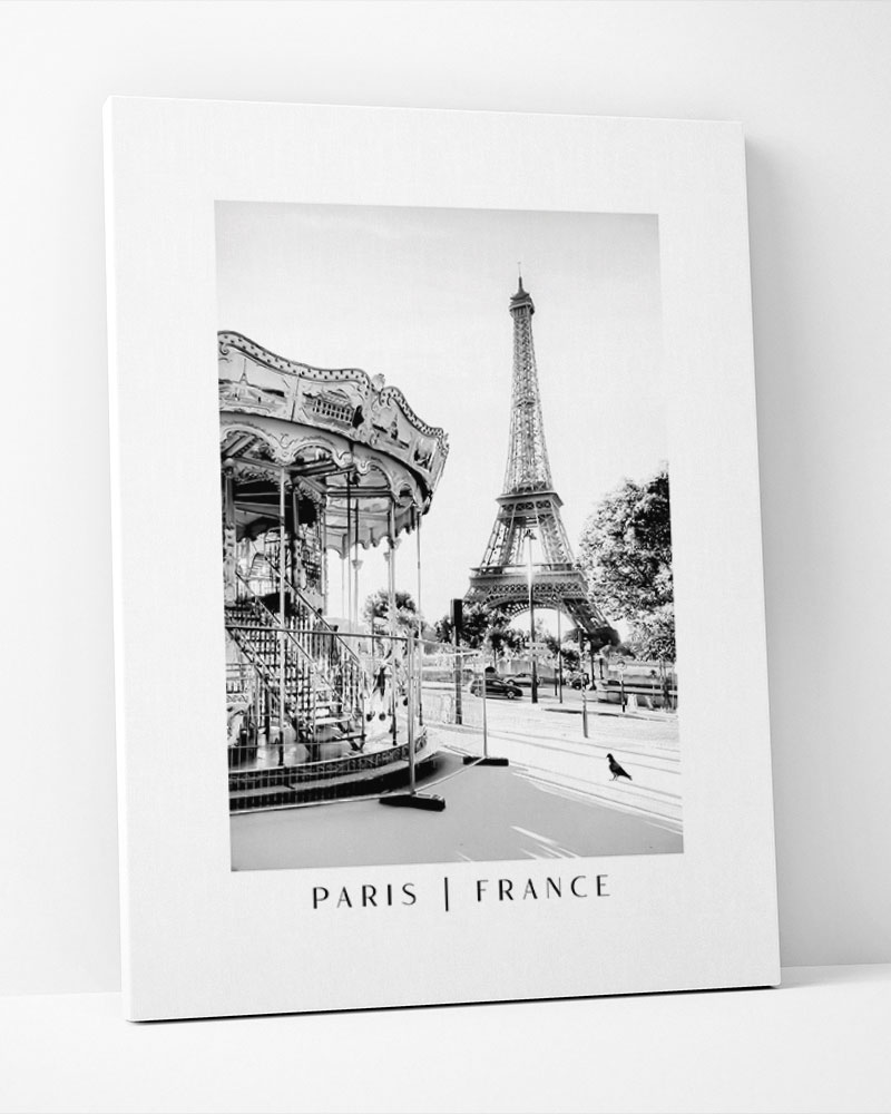 Placa Decorativa Carrossel Paris