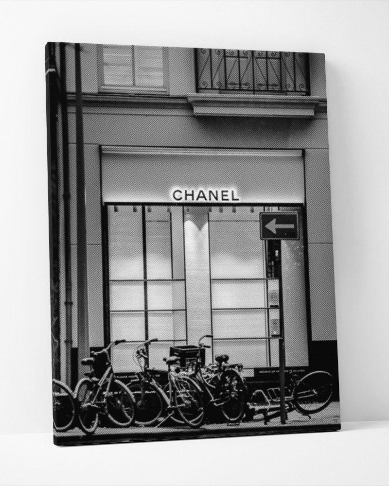Placa Decorativa Chanel Store-Pontilhismo