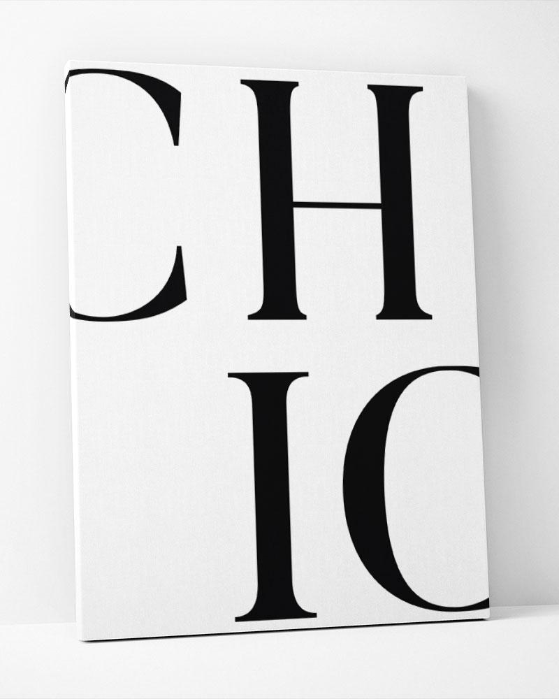 Placa Decorativa Chic