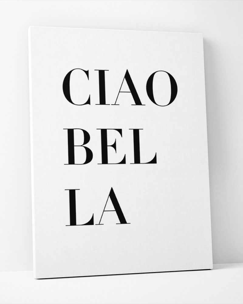 Placa Decorativa Ciao Bella