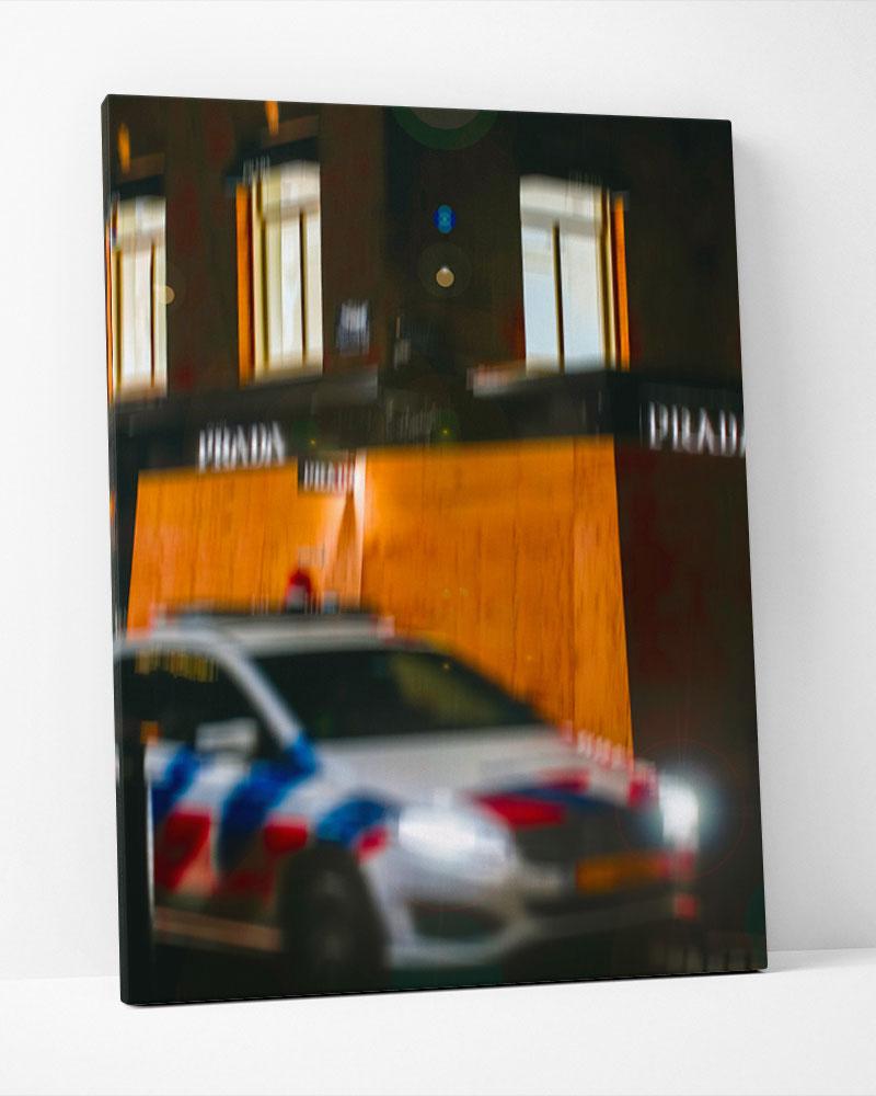 Placa Decorativa City Blur