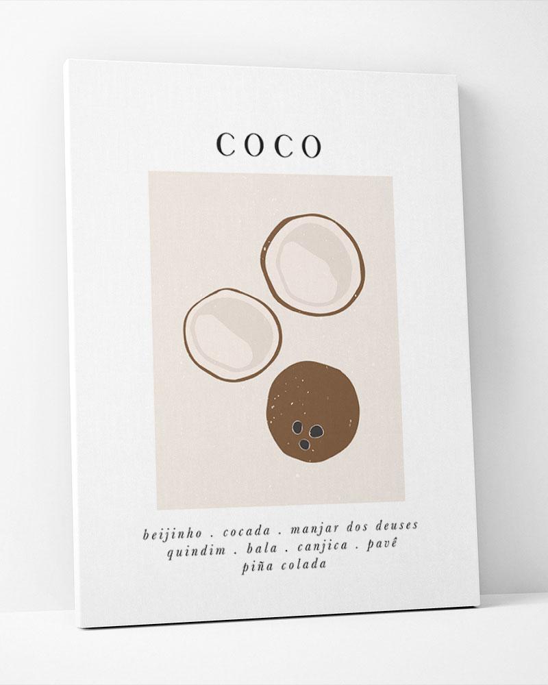 Placa Decorativa Coco