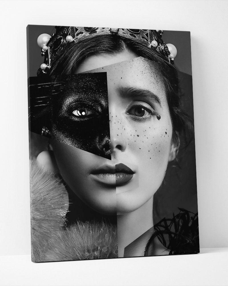 Placa Decorativa Collage Duas Faces