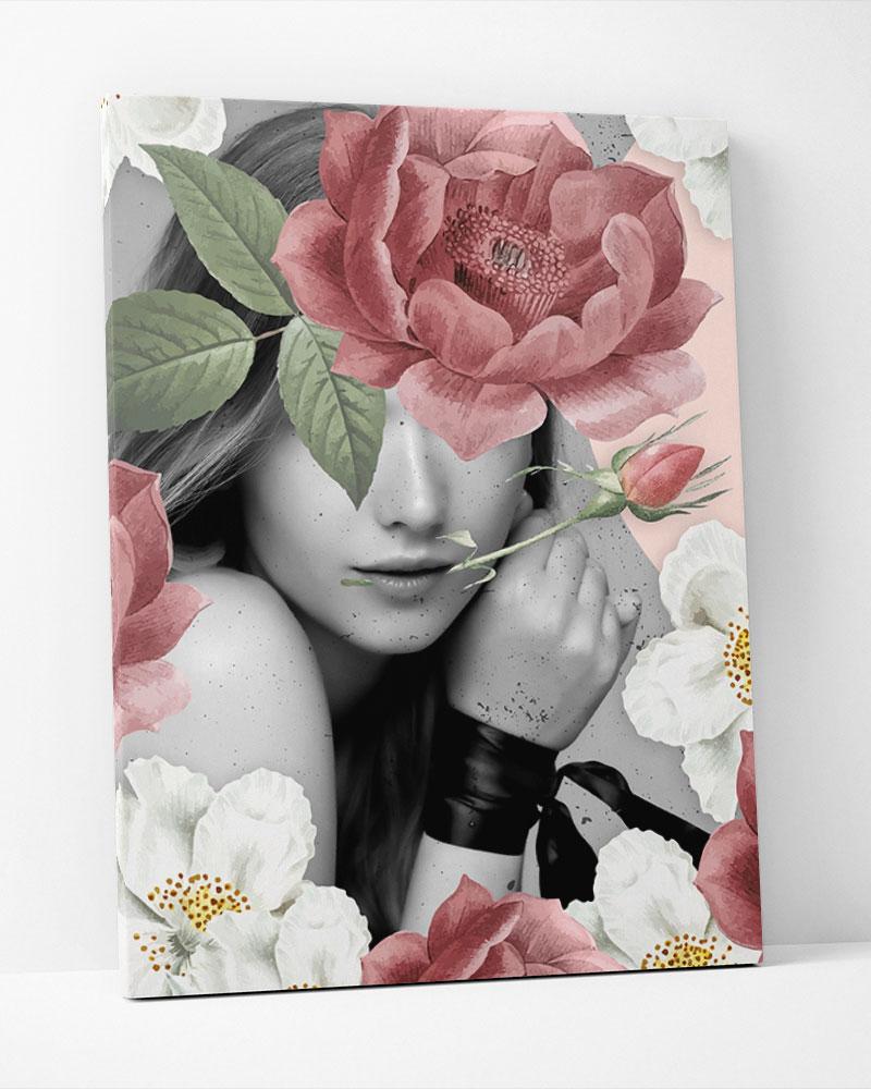 Placa Decorativa Collage Peony