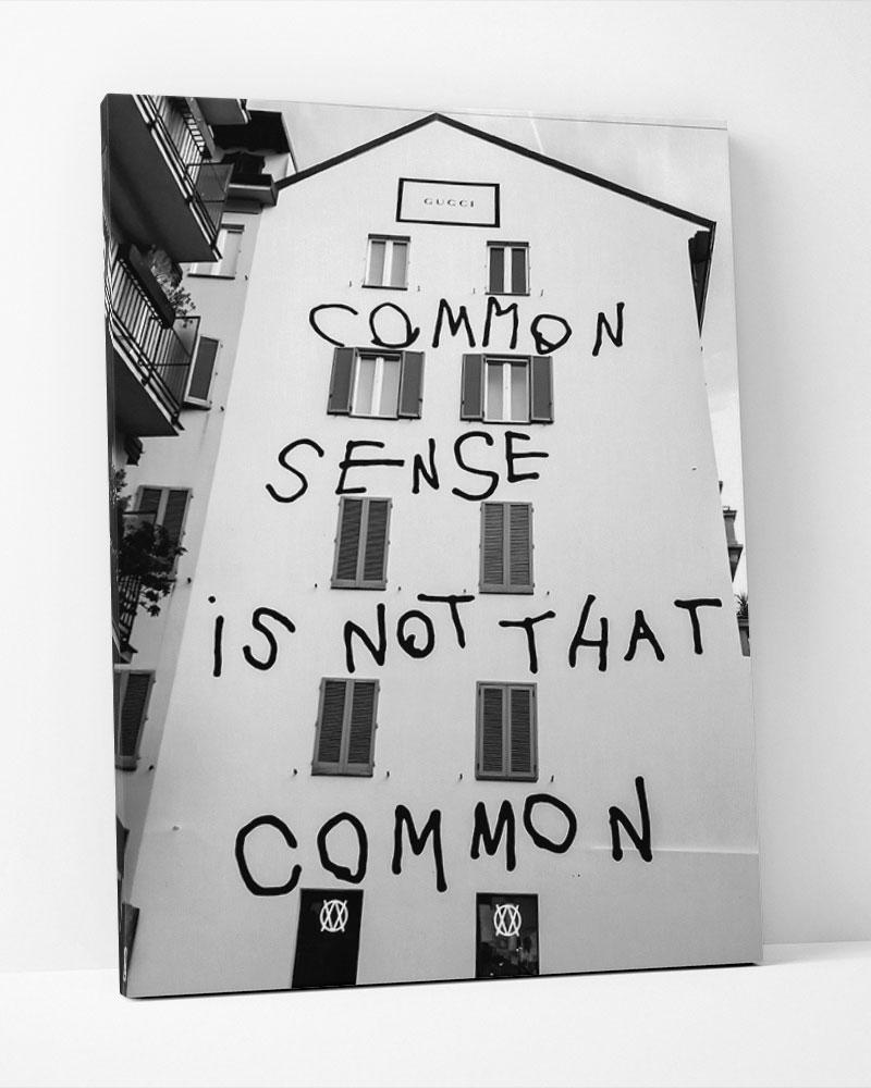 Placa Decorativa Common Sense