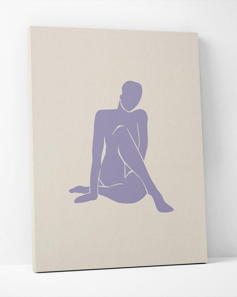 Placa Decorativa Corps Matisse Lilac