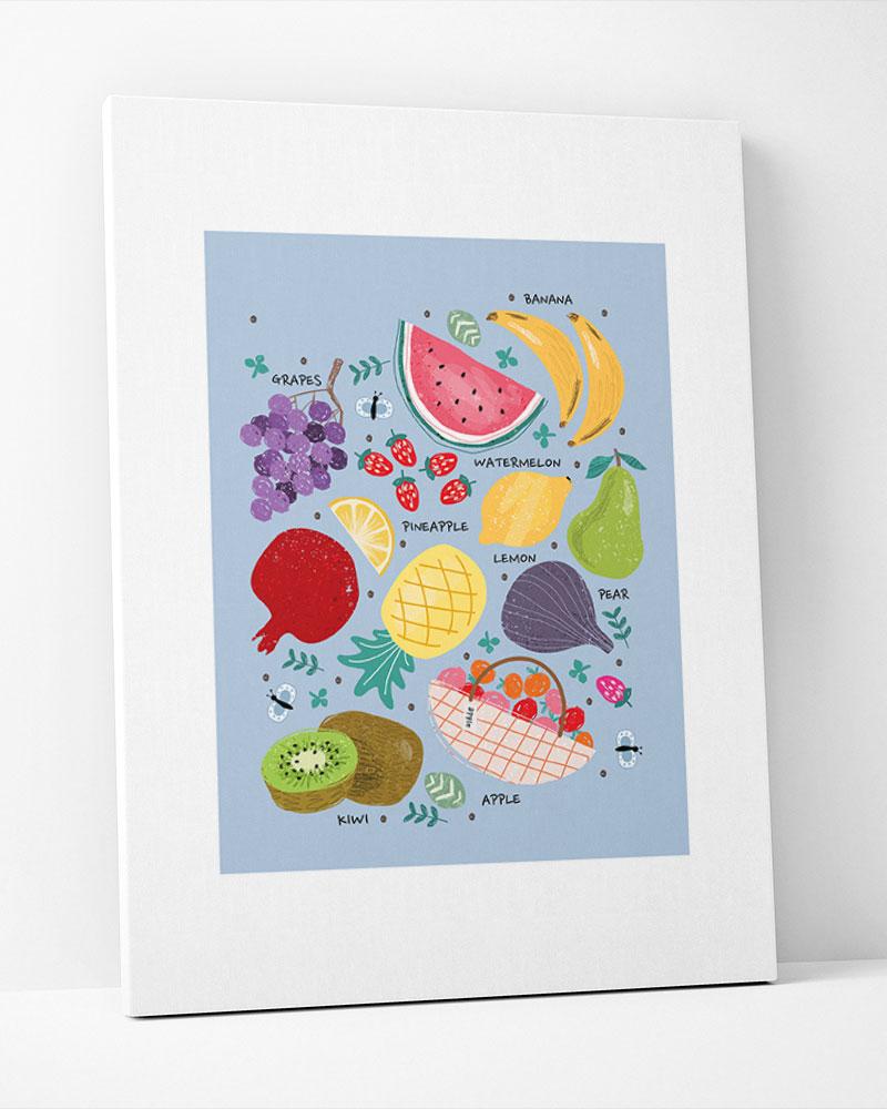Placa Decorativa Cozinha Frutas