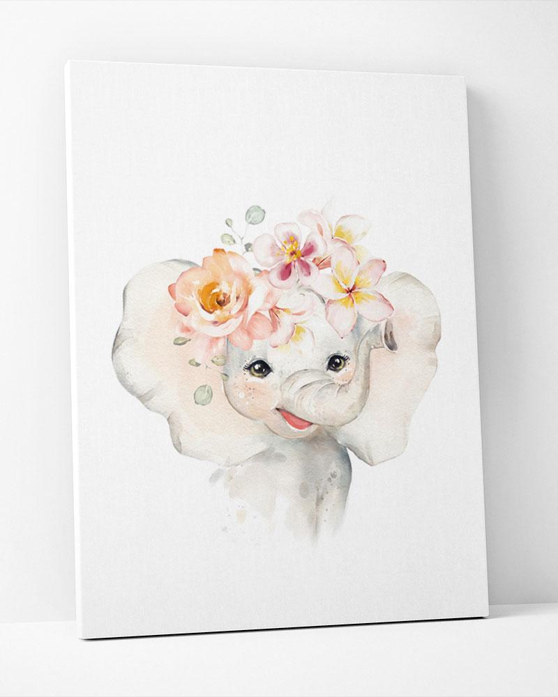 Placa Decorativa Elefante Baby Girl