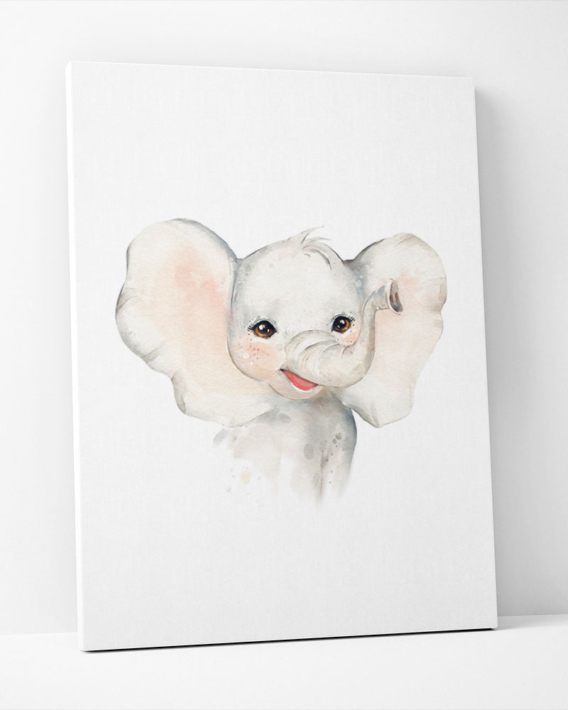 Placa Decorativa Elefante Mini Baby