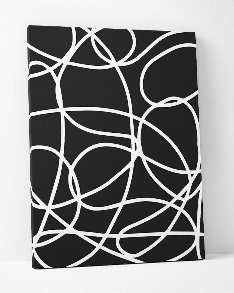 Placa Decorativa Elos Black