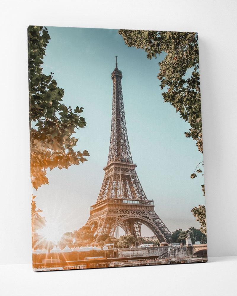 Placa Decorativa Entardecer Em Paris
