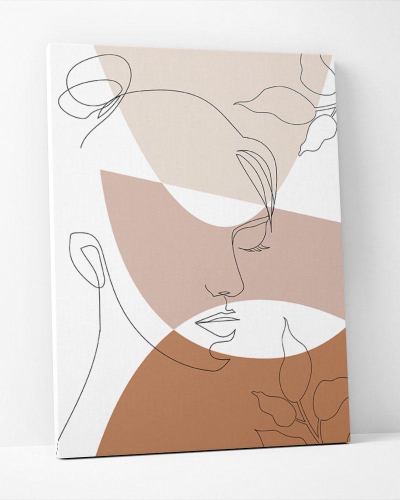 Placa Decorativa Face E Formas