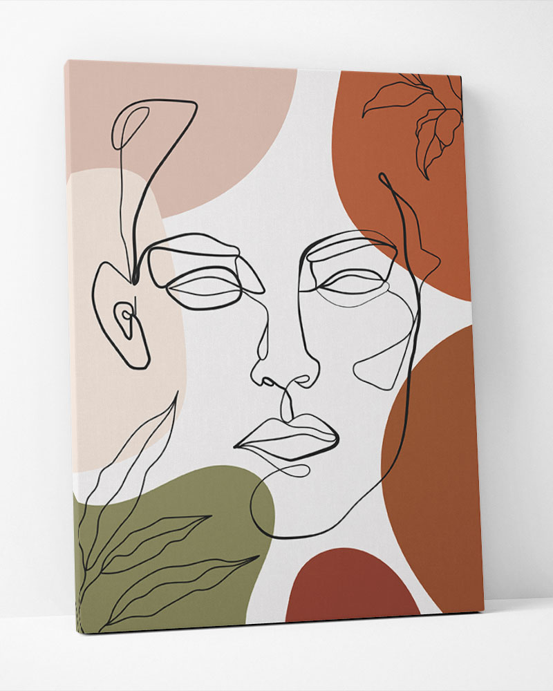 Placa Decorativa Faces Tropicais I