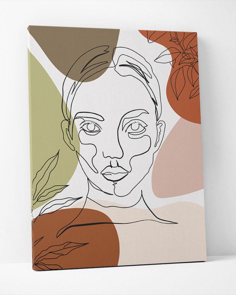 Placa Decorativa Faces Tropicais III