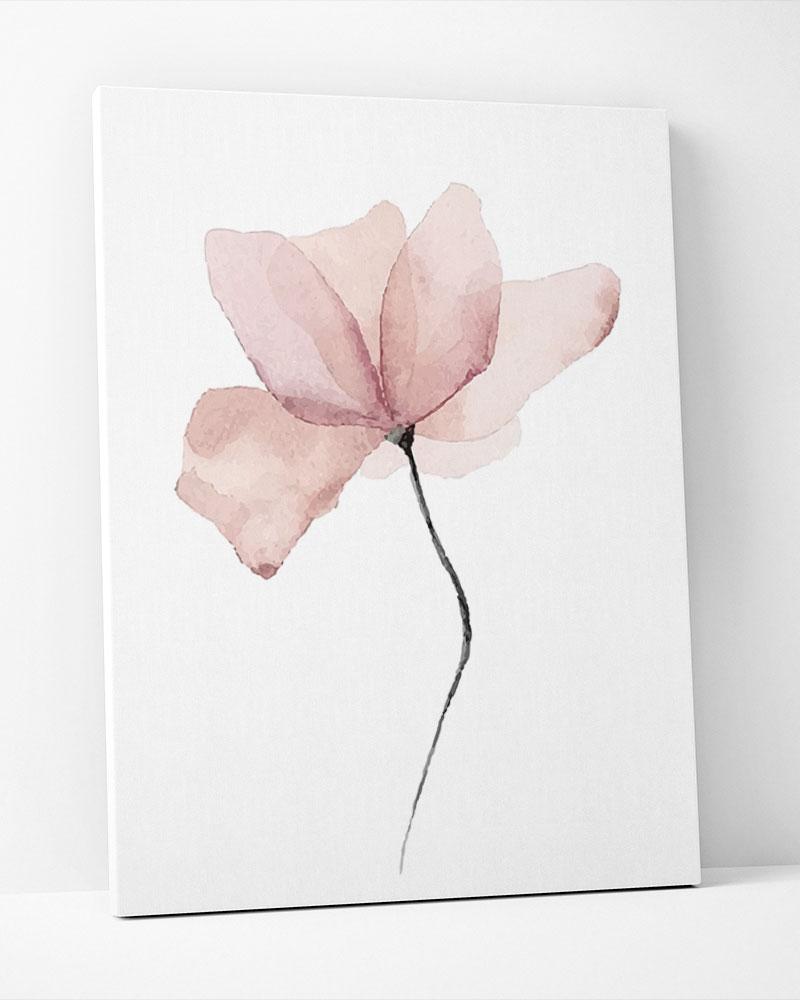 Placa Decorativa Flor Aquarelle