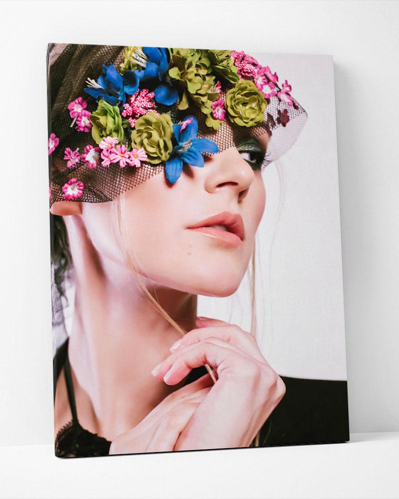 Placa Decorativa Flores Voilette