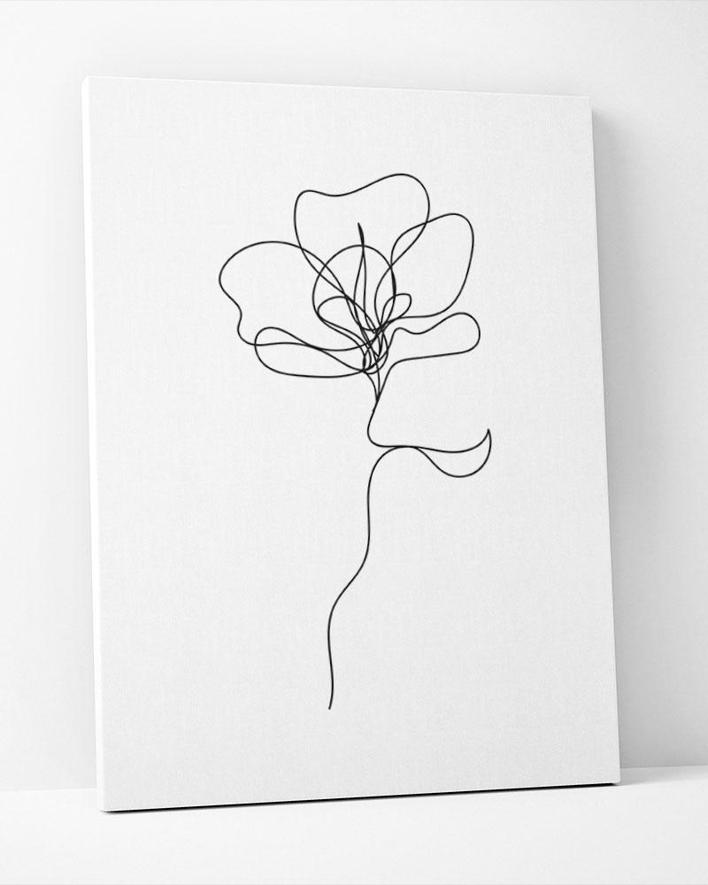 Placa Decorativa Flower Line