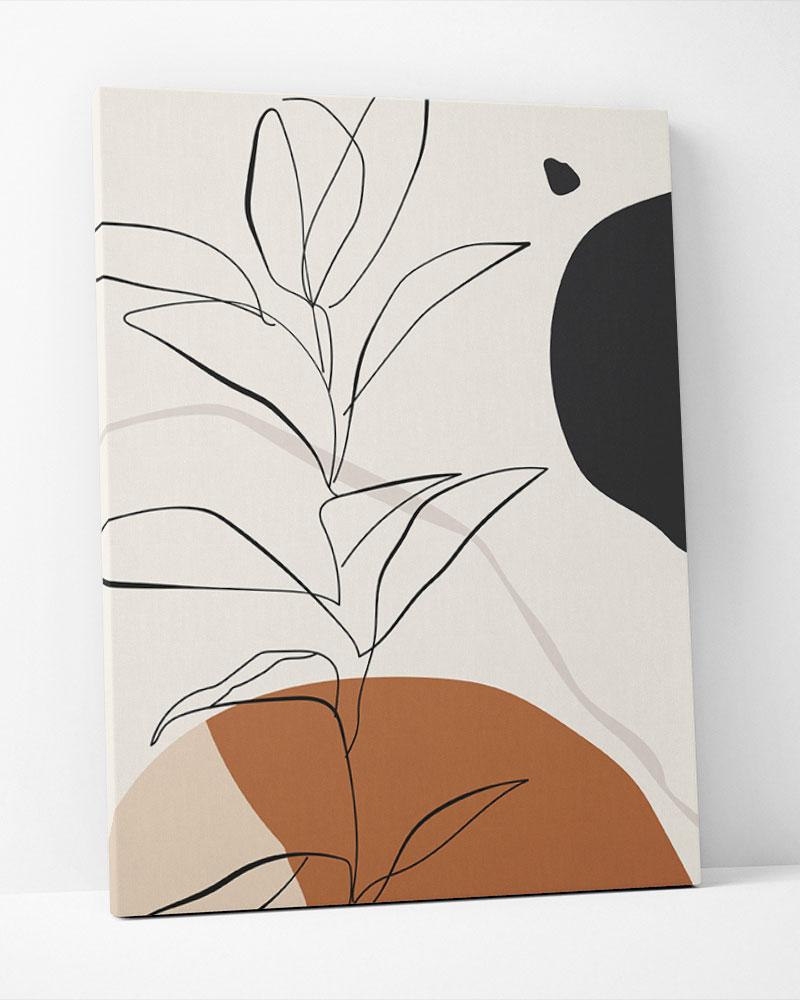 Placa Decorativa Folhagem Terracota I