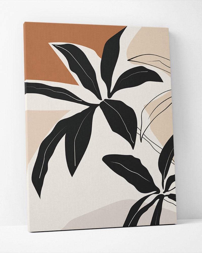 Placa Decorativa Folhagem Terracota II