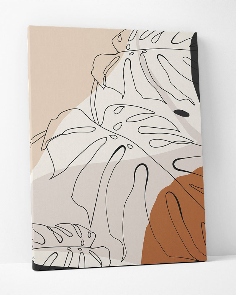 Placa Decorativa Folhagem Terracota III