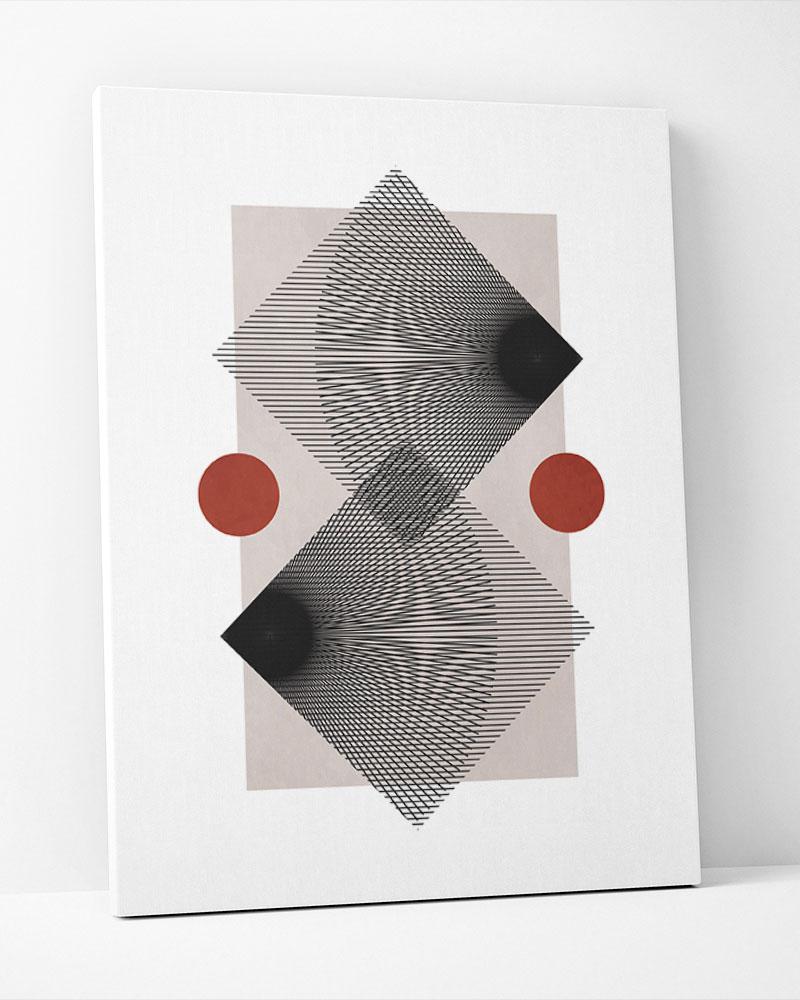 Placa Decorativa Formas Em Movimento