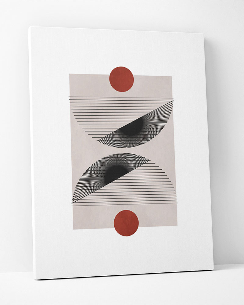 Placa Decorativa Formas Em Movimento II