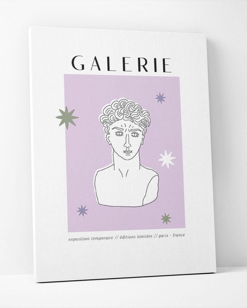 Placa Decorativa Galerie Lilac