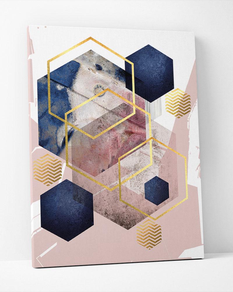 Placa Decorativa Geometria Assimétrica I