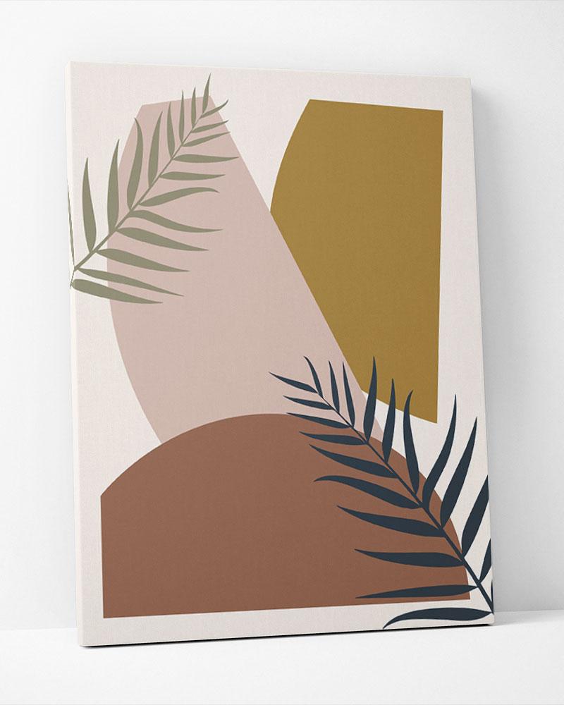 Placa Decorativa Geometria Tropical I