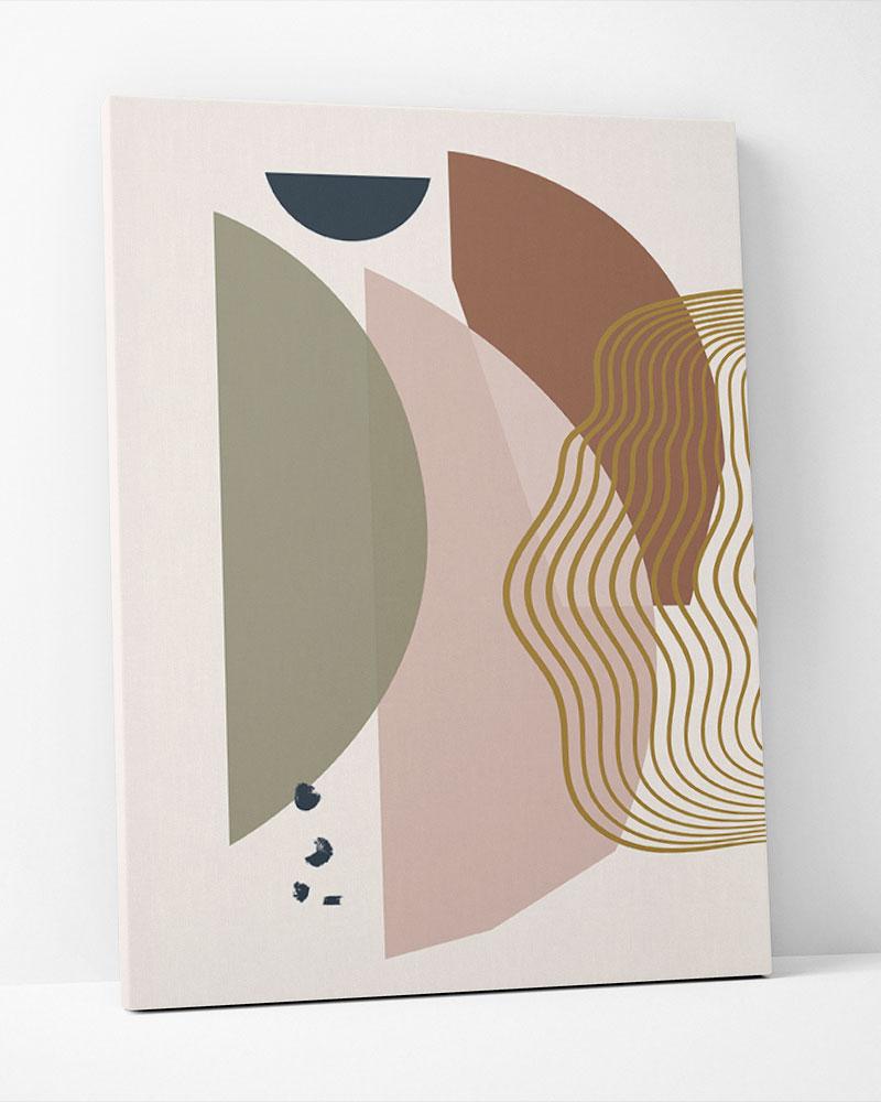 Placa Decorativa Geometria Tropical III