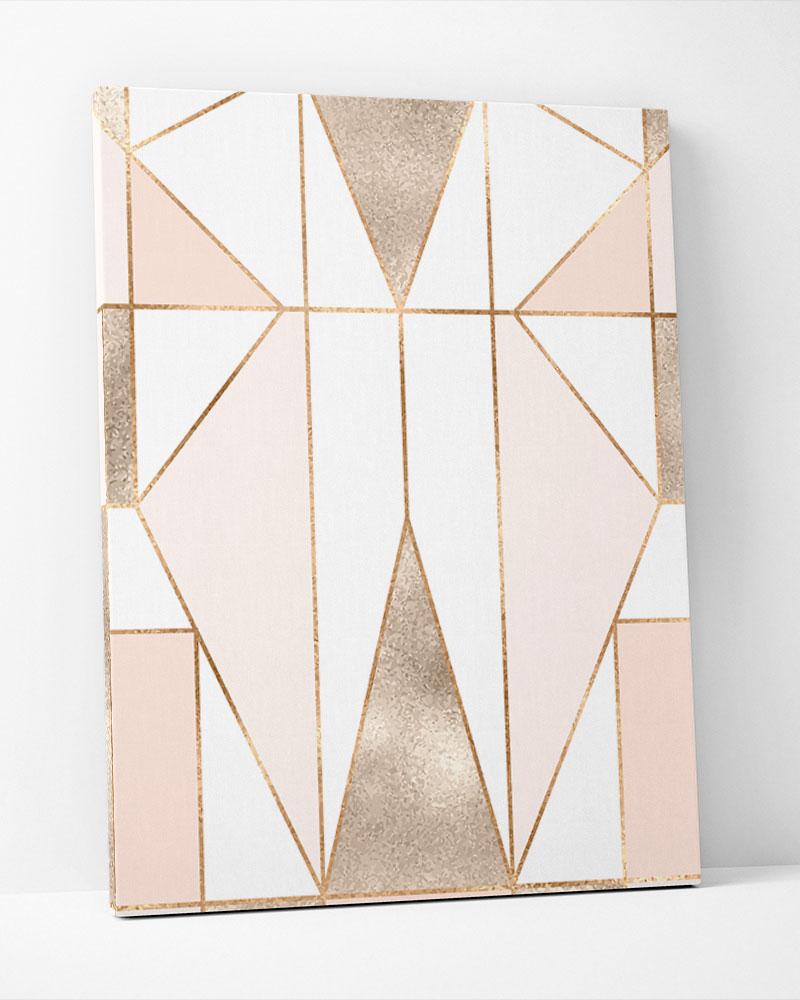 Placa Decorativa Geométrica Blush Rosé