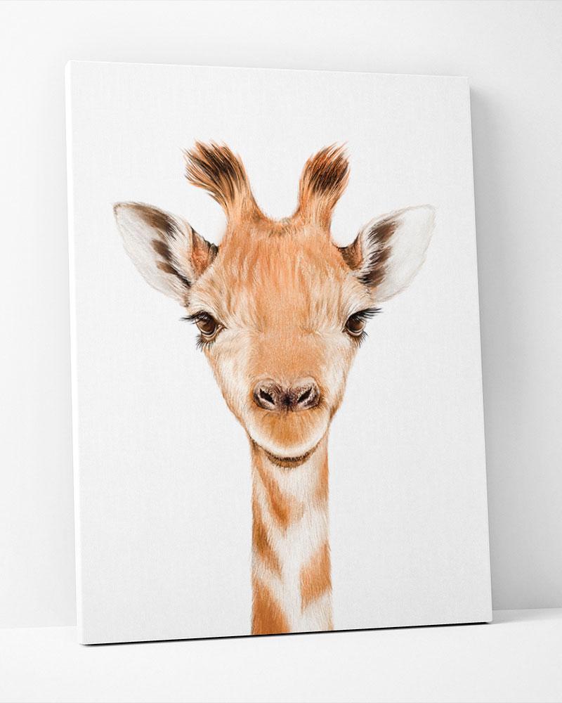 Placa Decorativa Girafa Baby