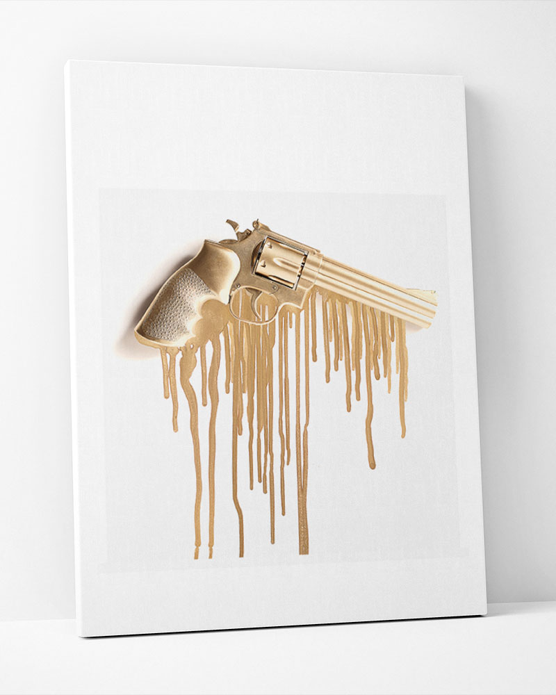 Placa Decorativa Golden Weapon
