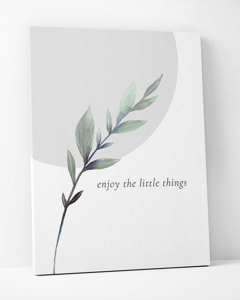 Placa Decorativa Green-Enjoy The Little Things