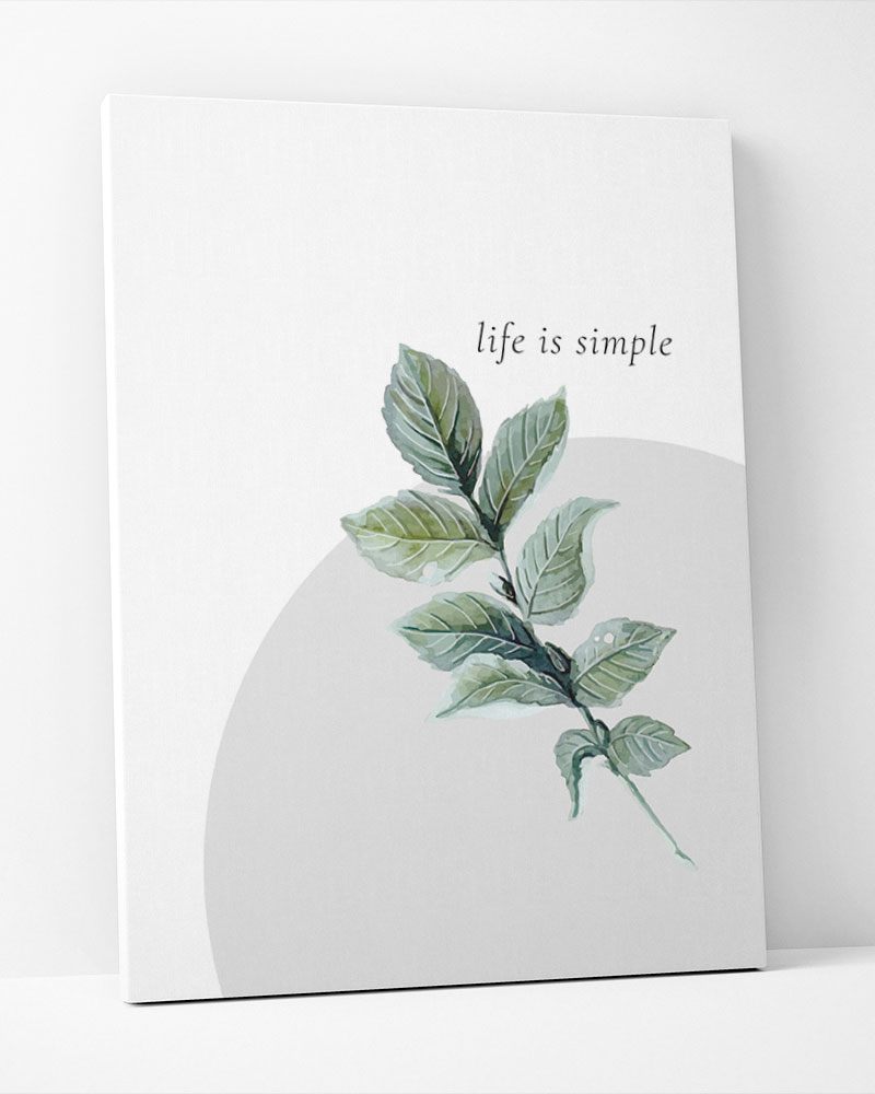 Placa Decorativa Green-Life Is Simple