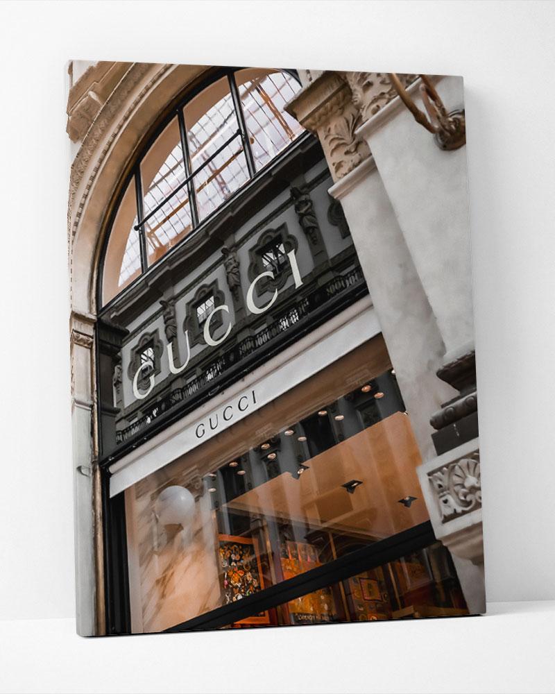 Placa Decorativa Gucci Store