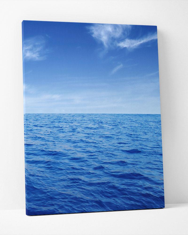 Placa Decorativa Horizonte Azul I