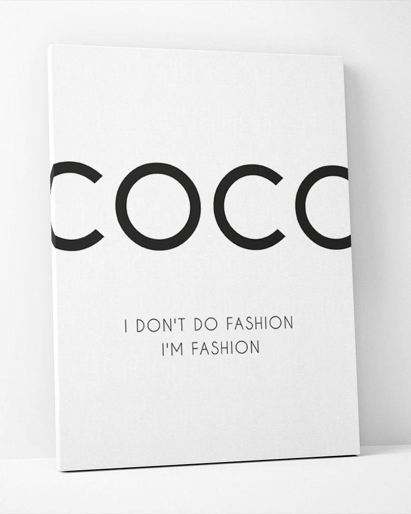 Placa Decorativa I Dont Do Fashion