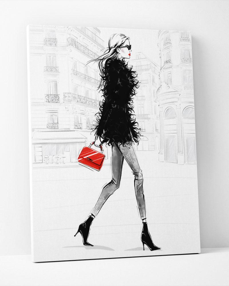 Placa Decorativa ILustração De Moda