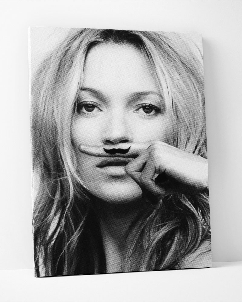 Placa Decorativa Kate Mustache-Pontilhismo