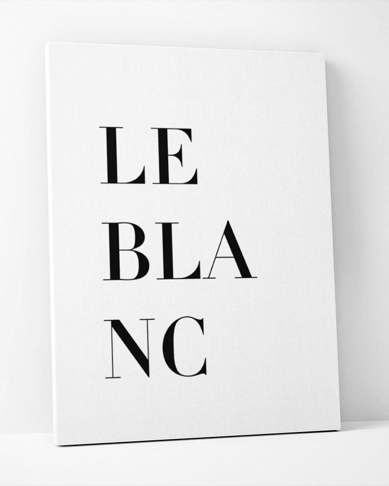 Placa Decorativa Le Blanc