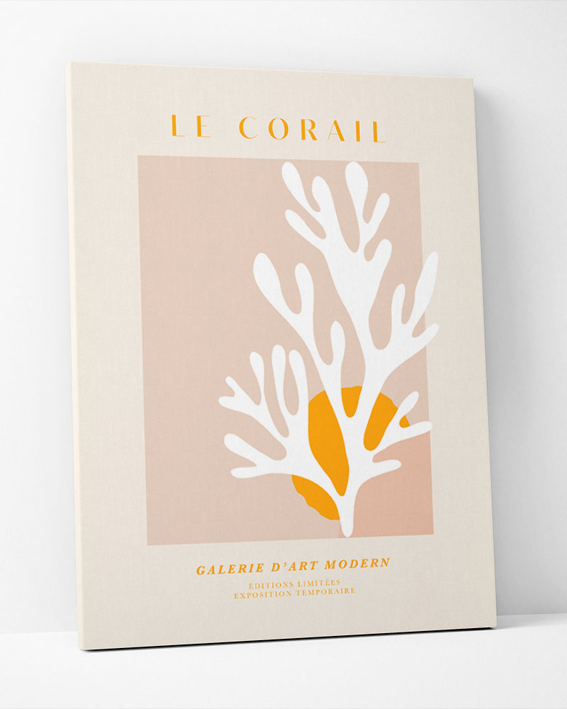 Placa Decorativa Le Corail Jaune
