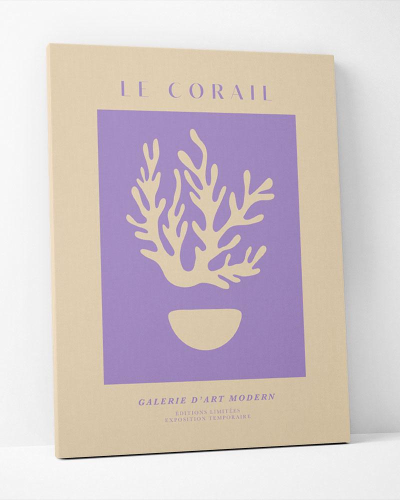 Placa Decorativa Le Corail Lilas