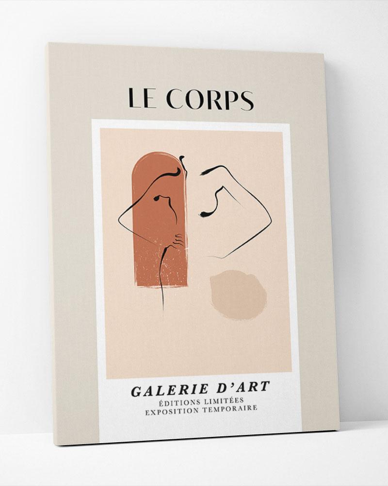 Placa Decorativa Le Corps