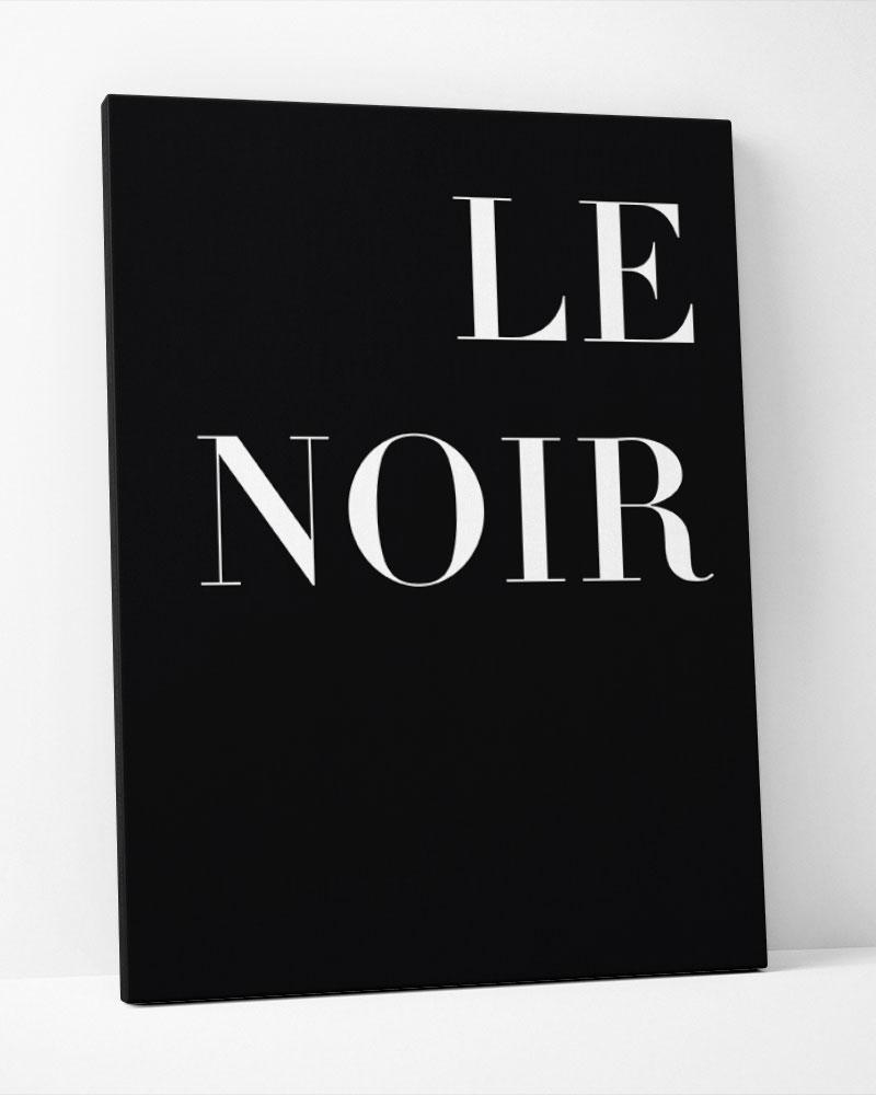 Placa Decorativa Le Noir