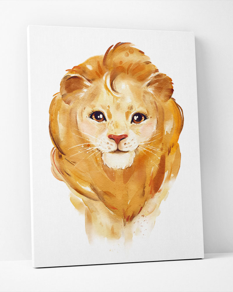 Placa Decorativa Leão Baby