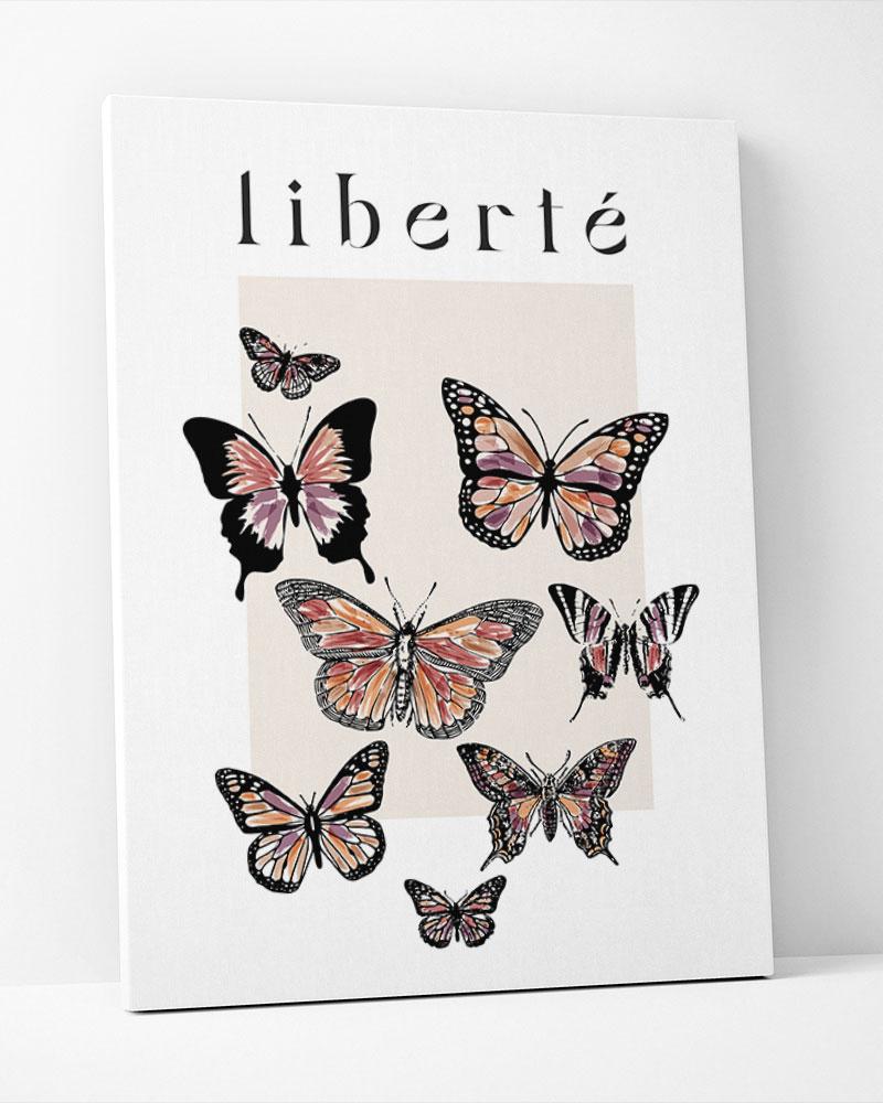Placa Decorativa Liberté
