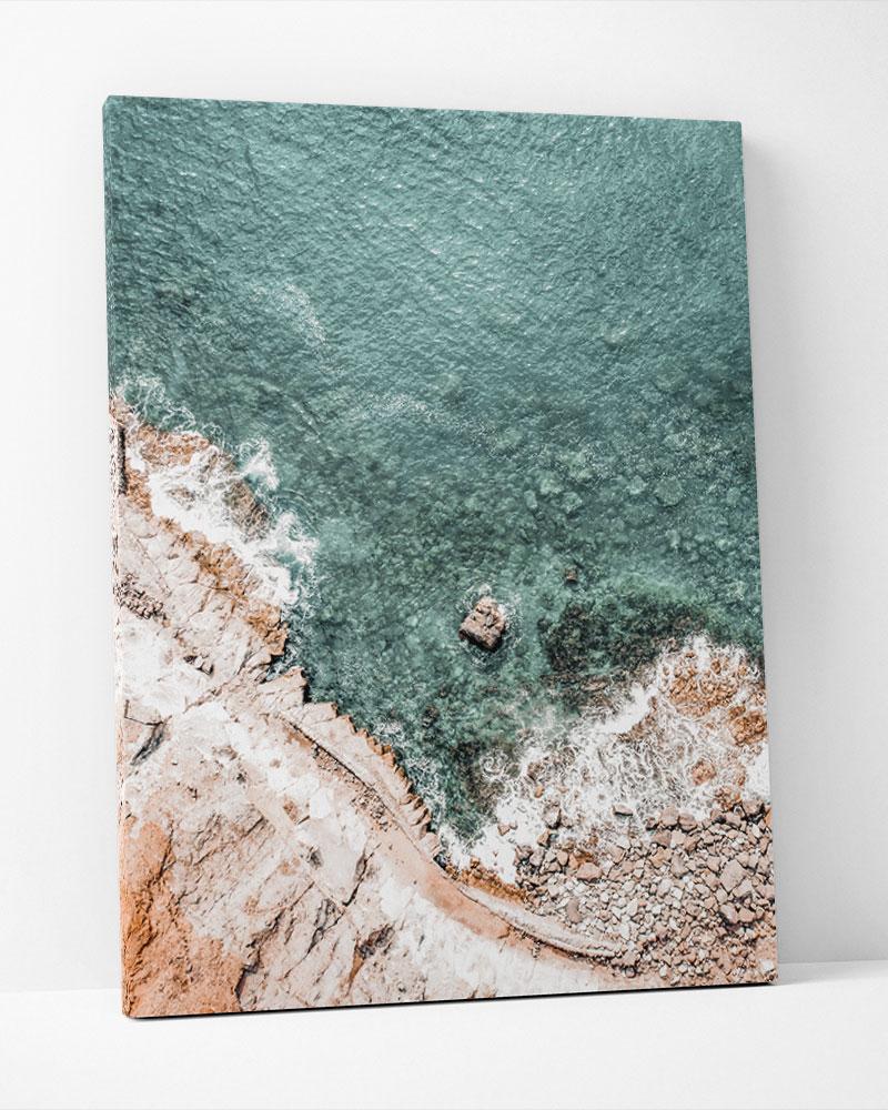 Placa Decorativa Mar Esverdeado